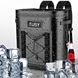 TUSY Best 20 Cans Soft Cooler Backpack-Portable Waterproof Leak-Proof Insulated Bag & Keep Cold 48 H for Picnics, Camping, Hiking or Beach