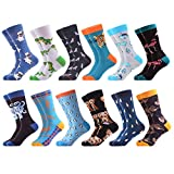 WeciBor Men's Fashion Animal Style Multi Pattern Combed Cotton Casual Socks