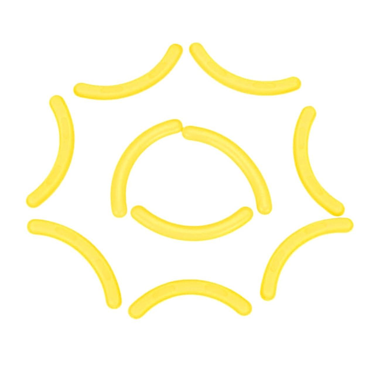 暴君地獄割合Falseアイラッシュエクステンションショーディスプレイスタンドホルダーのための10のシリコーンストリップのセット - 黄