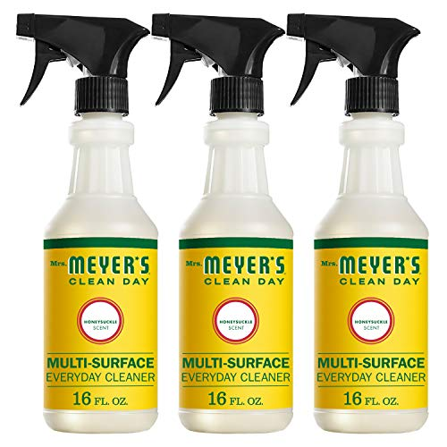 Mrs. Meyer's Clean Day Multi-Surface Everyday Cleaner, Cruelty Free Formula, Honeysuckle Scent, 16...