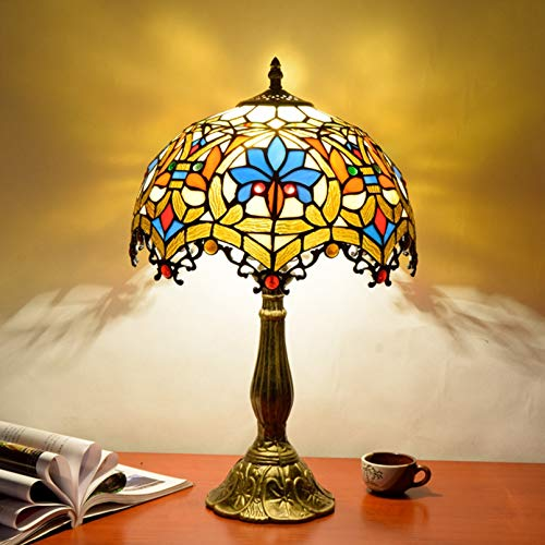 Europese creatieve tiffany tafellamp glas schilderij woonkamer slaapkamer restaurant bar hotel decoratie nachtkastje…