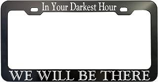 Customized Black Anodized Aluminum License Plate Frame Laser Engraved