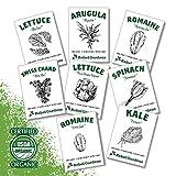 Organic Garden Greens Vegetable Seeds - 8...