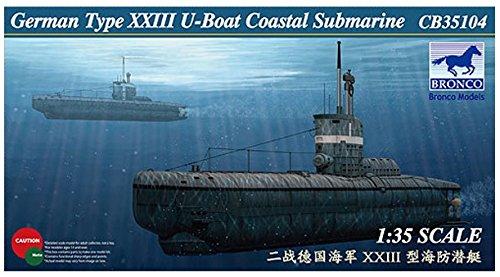 ブロンコモデル 1/35 ドイツ UボートXXIII型 沿岸用潜水艦 プラモデル CB35104