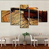 Wiwhy 5 Piezas De Violín Y Música Partitura Moderna Para El Hogar Decoración Cuadros Modulares Para La Sala Hd Pintura De La Lona Wall Art Posters,40X60/80/100Cm