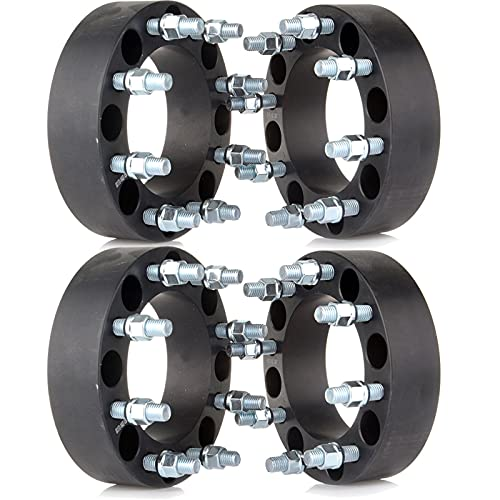 ECCPP 4X 8X170 Wheel Spacers 8 Lug 2' 50mm Thick 8x170mm to 8X170mm 130mm with...