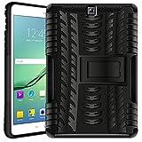 Verco Hülle für Samsung Galaxy Tab S2 9.7, Outdoor Schutzhülle Armor Tablet Case [T810 T815 T813 T819], Schwarz