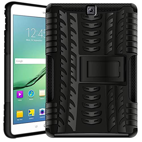 Verco Hülle für Samsung Galaxy Tab S2 9.7, Outdoor Schutzhülle Armor Tablet Hülle [T810 T815 T813 T819], Schwarz