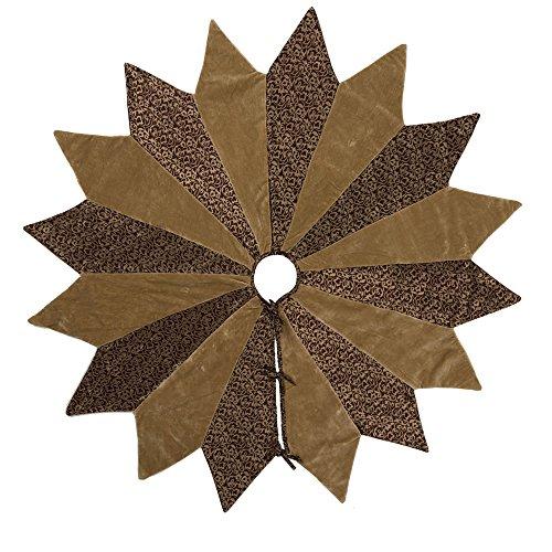 "Vickerman Brocade Set Tree Skirt, 60"", Gold -  QTX17080"