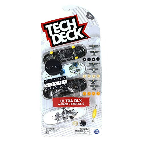 TECH DECK SOVRN Skateboards 2020 Ultra DLX 4-Pack Fingerboards