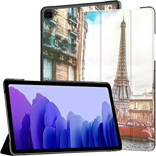 Scenic Freedom Travel City French Galaxy Tab A7 10.4 Coque Galaxy Tab A7 10.4 Pouces Tablet Cover Tablet Cover avec Auto Wake/Sleep Fit Coque Galaxy Tab A7 pour Galaxy Tab A7 Sm-t500 / t505