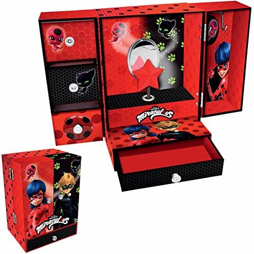 Disney–Musical Armario Ladybug Caja Joyas, lb17031