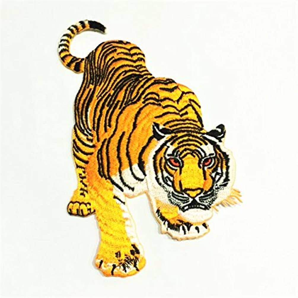 Patch Portal Tiger Embroidery Patches Iron On 6 Inch Animal Wildlife Siberian Bengal Predator Embroidered Sewing Pattern Trendy Applique For Clothes Hat T Shirt Jeans Jackets Backpacks Luggage Model 2