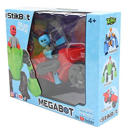 Zing StikBot MegaBot Turbo Cycle, Mehrfarbig