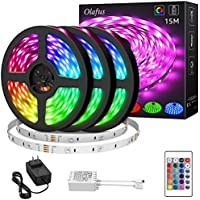 Olafus 50ft Dimmable RGB LED Strip Lights Kit