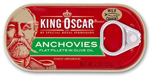 King Oscar Flat Anchovies, 2 oz