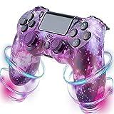 YUNR Night Light Mando Inalámbrico para PS4, Mandos PS4 Gamepad Joystick para PS4/PS4 Slim/Pro, Bluetooth PS4 Mando con Dual Vibración,Batería 600mAh,D
