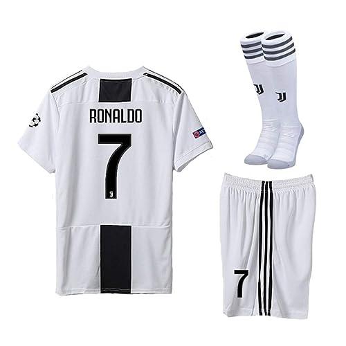 935873d063c Pskhf Juventus 2018 2019 Season  7 Ronaldo Home Kids Or Youth Soccer Jersey