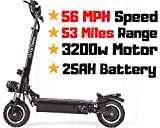 OUTSTORM MAXX Pro Folding Electric Scooter for Adults, 56MPH Top Speed, 53 Mile Max Distance, Hydraulic Shocks, Portable and Foldable with Heavy Duty Off-Road Tires (25Ah Battery/ 53 Miles Range)