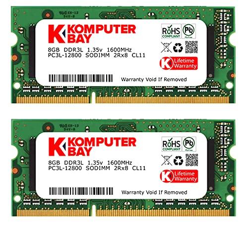 KOMPUTERBAY Komputerbay DDR3-1600 1.35V 低電圧 ノートPC用SODIMM 16GBセット 8GB×2 PC3-12800