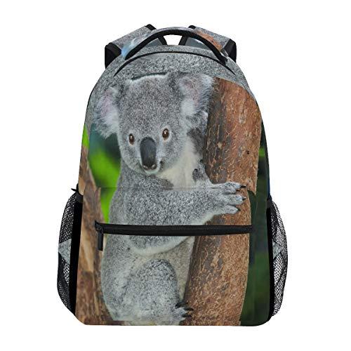 Koala Bear Forest Zoo Rucksack, wasserdicht, Schul-Umhängetasche, Fitness-Rucksack, Baum, Tier-Ast, Laptop-Tasche, Outdoor-Reisetasche für Kinder, Jungen, Mädchen, Frauen, Männer