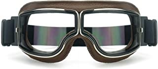 HEINMO Motorrad Roller Reitbrille Motocross Aviator Ski Retro Helmbrille Motorradbrillen
