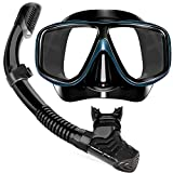 Yerloa Gafas de Snorkel para Adultos, Gafas de buceo Máscara Top Gafas y Tubo de Buceo et de Snorkel Profesional para Adultos y jóvenes Kit de Snorkel