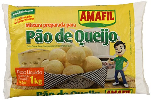 Cheese Bread Mix / Pao de Queijo / Pan De Queso - Amafil - 35.2oz, (1kg) - GLUTEN FREE