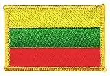 Flaggen Aufnäher Litauen Fahne Patch + gratis Aufkleber, Flaggenfritze®