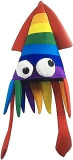 BESTOYARD Oktopus Hut Tintenfisch Kopfbedeckung Kinder Erwachsene Party Kostüm Größe M (Gelb)