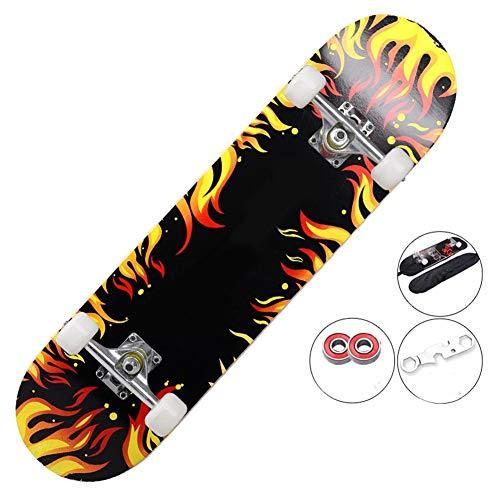 Best Bargain JSZMD Professional Skateboarding, Youth Standard 4-Wheel Brush Street Dance Board, Suit...