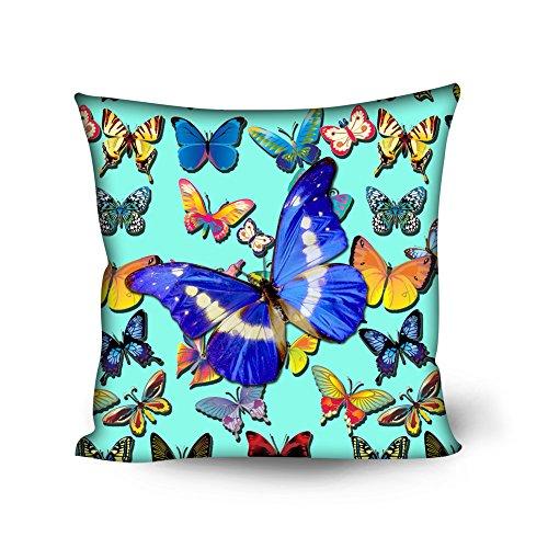 Nopersonality Pretty Butterfly Jeté de Canapé Housse de coussin Taie d'oreiller Home Decor, Polyester, Butterly Green, Taille M