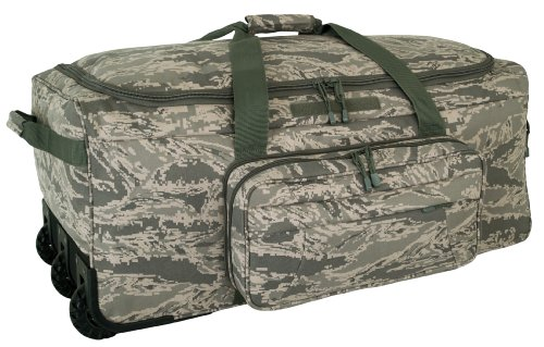 Mercury Tactical Gear Code Alpha Mini Monster Wheeled Deployment Bag, Camouflage, Air Force Digital Camo, One Size