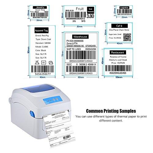 Aibecy Gprinter Impresora térmica 1D 2D QR Etiqueta con código de barras Impresión de 8 pulgadas Velocidad rápida 20-118 mm Ancho con etiqueta externa Entrada para Express Logistics Magazzino