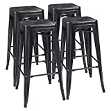 *Scratch and mar resistant steel with excellent polish finish. *Best home and restaurant stools. All-around bistro,patio,café and restaurants chairs. *Fully Assembled,Each Metal Bar Stools has a X-brace under the seat that provides additional support...