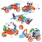 Vehículo de avión Juguete de avión desmontable, camión, excavadora, juguete de avión con destornillador adecuado para niños de 3 4 5 6 años, niños, niños pequeños, niños, regalos de aprendizaje para n