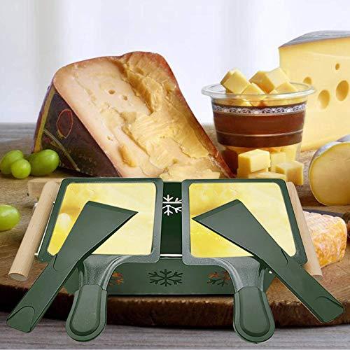 NPSJYQ Picnic suministros de cocina para el hogar vela horneado lento queso queso pan horno doble Picnic Hogar Suministros de cocina Vela Queso asado lento Jamón Pan Parrilla