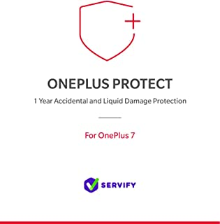 Servify OnePlus Protect - 1 Year Accident and Liquid Damage Protection Plan for OnePlus 7 (8GB + 256GB)