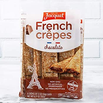 Ready to Eat French Crepes by Jacquet - Filled - Chocolate  6.77 ounce