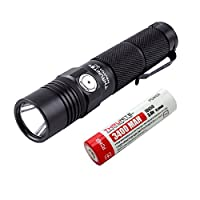 ThruNite Neutron 2C V3 Micro-USB Chargeable LED Flashlight CREE XP-L V6 LED Max 1100 lumens with Firefly, Turbo, Strobe and Self-define Modes Battery Included (Neutron 2C V3 Cool White) 5