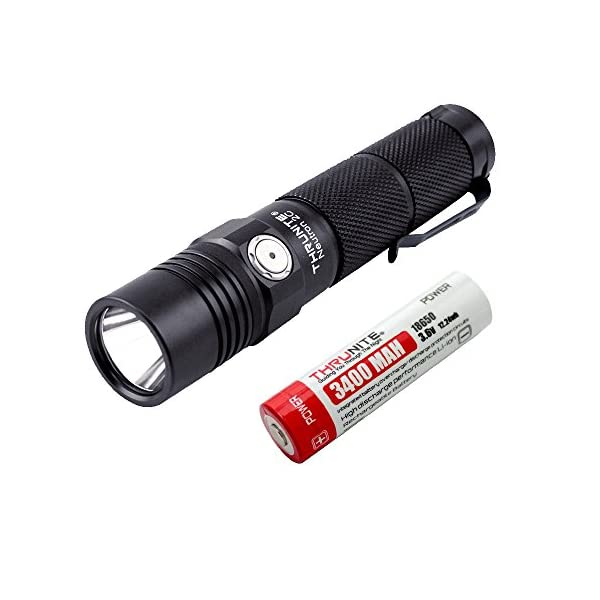 ThruNite Neutron 2C V3 Micro-USB Chargeable LED Flashlight CREE XP-L V6 LED Max 1100 lumens with Firefly, Turbo, Strobe and Self-define Modes Battery Included 1