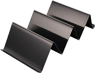 Leeofty Stainless Steel Burrito Rack Pancake Rack Taco Rack Pancake Rack 2-3 Compartments With Handle (Black)