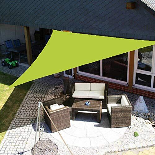 MKIU Toldo De Sombra, Toldo De Protección Solar Impermeable Triangular, Toldo 100% De Poliéster Súper Duradero Caseta De Jardín Al Aire Libre con Kit De Fijación, a Prueba De Polvo Y De Viento,5x5x5m