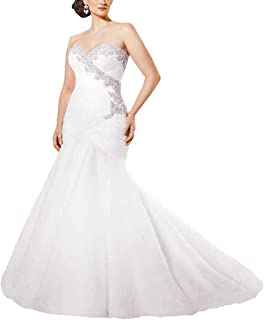 Plus Size Wedding Dresses for Bride Sweetheart Bridal Gowns Beaded Sequins Corset Sleeveless Mermaid