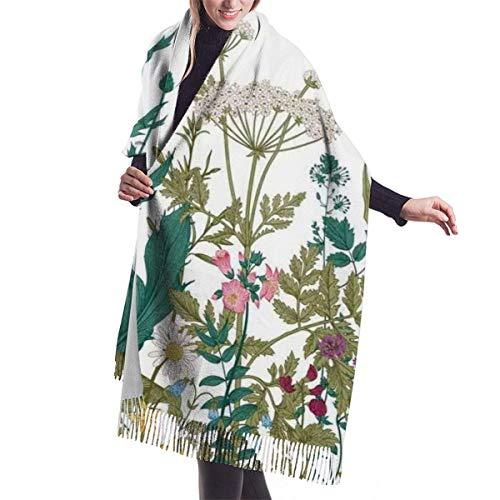 Bufanda grande con flores, hojas en un jardín de primavera con margaritas, rosas, hortensias, mantón, abrigo, invierno, cálido, capa, b