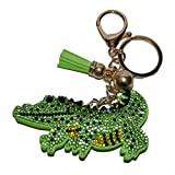 Bling Alligator Keychain Backpack Charms Rhinestone Crystal Bag Charm Keyring