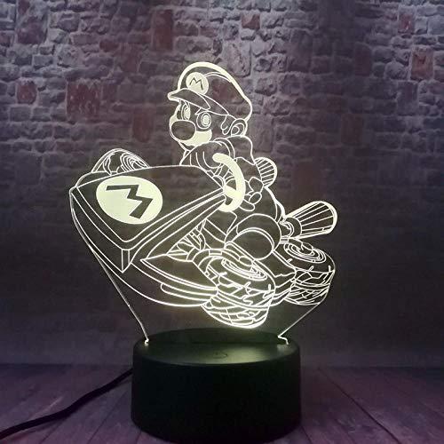 Luz De Ilusión De Luz Nocturna 3D Super Mario Bros Anime 3D Fantasy Led7 Colorido Fantasy Night Light Super Mario Figura Modelo De Juguete