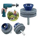 Aiguiseur de lame de tondeuse à gazon, accessoire de forage pour affûteuse de lame en 3 parties pour chaque perceuse à main