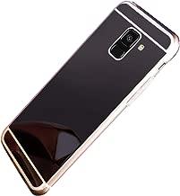 PHEZEN Mirror Case for Samsung Galaxy A6 2018 Case Luxury Bling Cute Shiny Mirror Makeup TPU Case Silicone Bumper Protective Cover Reflective Back Case for Samsung Galaxy A6 2018 Black