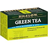 Bigelow Green Tea with Wild Blueberry & Acai, 20 Count Box (Pack of 6), Caffeinated Green Tea, 120 Teabags Total